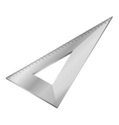 Metal angle ruler icon isometric style vector