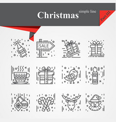 modern of thin line icons set vector image