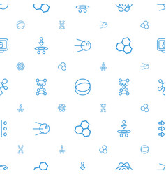 molecule icons pattern seamless white background vector image