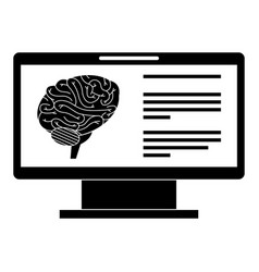 Monitor computer with brain vector