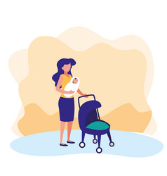 Mother with ba design vector
