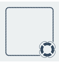 nautical card template vector image
