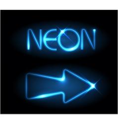 neon arrow vector image