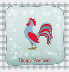 new year retro card with rooster vector image