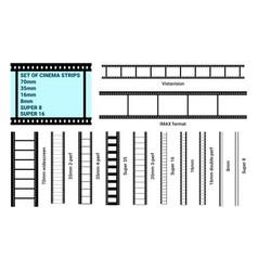 old retro film strip frame set vector image