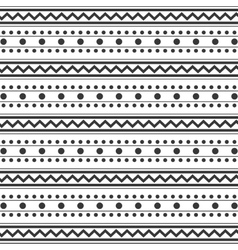 Pattern monochrome with dots and lines vector