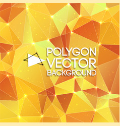 Polygon yellow background vector