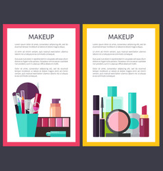 professional makeup tools and means promo posters vector image
