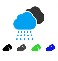 Rain clouds flat icon vector