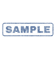 Sample textile stamp vector
