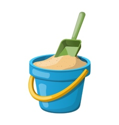 Sand Bucket and shovel vector
