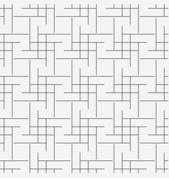 seamless geometric line grid cubes pattern vector image