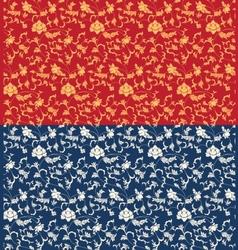 Seamless oriental pattern design vector