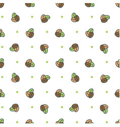 seamless pattern coffee candies vector image