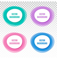 Set collection of four colorful banners frames vector image