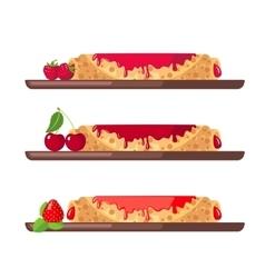 Set of sweet pancakes vector image