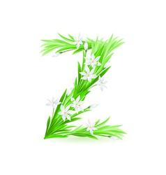 spring flowers alphabet z vector image vector image