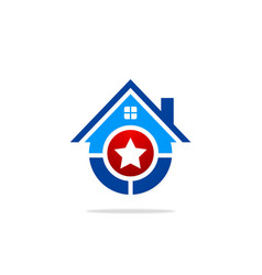 star house winner logo vector image