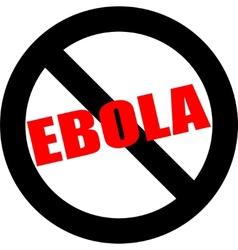 Stop ebola hand leader in black vector