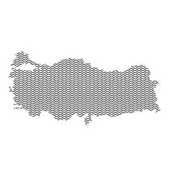 Turkey map country abstract silhouette of wavy vector