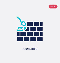 Two color foundation icon from architecture and vector