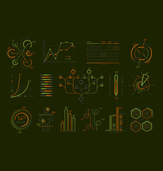 various business infographics isolated set vector image