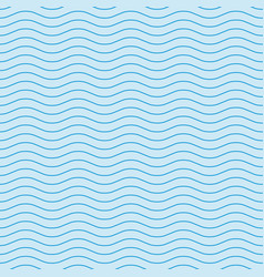 wavy line blue seamless pattern vector image