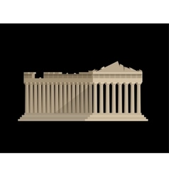 World landmark Flat design of parthenon greek vector image