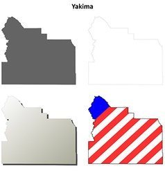 Yakima Map Icon Set vector
