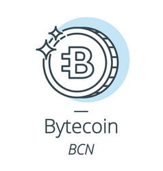bytecoin cryptocurrency coin line icon of virtual vector image