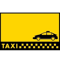 cab yellow backdrop with taxi car vector image vector image