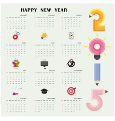 Creative calendar 2015 design template vector image