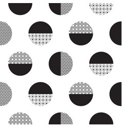 geometric black and white dotted circles vector image vector image