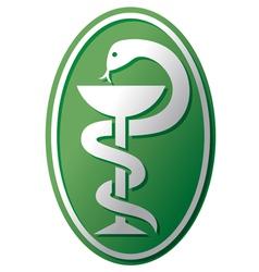 snake-medical symbol vector image vector image