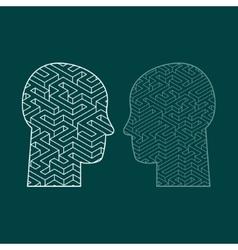 Symbol of the brain thinking vector
