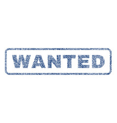 wanted textile stamp vector image
