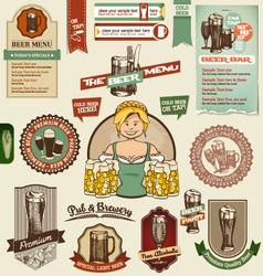 Beer design elements vector image vector image