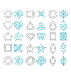diamond shapes set vector image