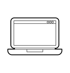 laptop technology device digital electronic vector image vector image