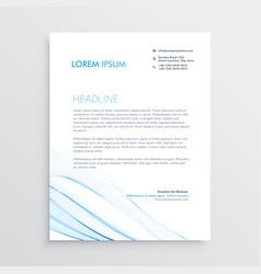 simple creative letterhead template design vector image vector image