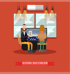 sound recorder in flat style vector image vector image