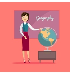 Subject of Geography Education Conceptual Banner vector image