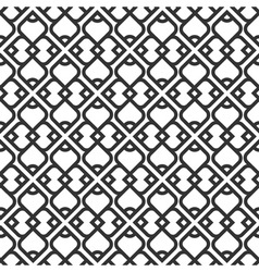 Black and white islamic seamless pattern vector image vector image