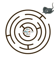 Game labyrinth find a way stingray vector image vector image