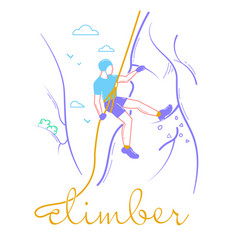 icon of a man climber vector image vector image