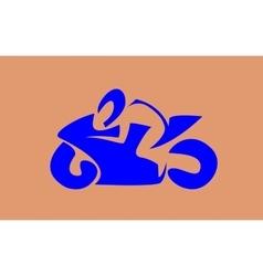 Sport bike racer vector image vector image
