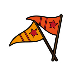 sports celebratory flags icon image vector image vector image