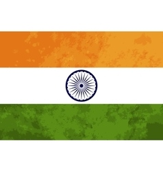 True proportions india flag with texture vector