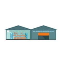 Worldwide Warehouse Deliver Storehouse Building vector image vector image