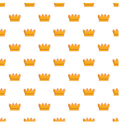 baron crown pattern seamless vector image vector image